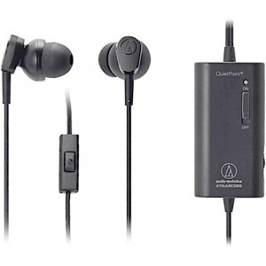 Audio-Technica ATH-ANC33iS QuietPoint® Noise Cancelling In-Ear Headphones